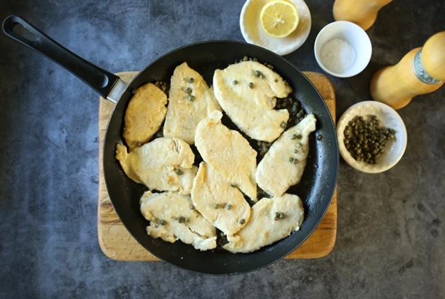 Chicken Piccata/Pollo al limone